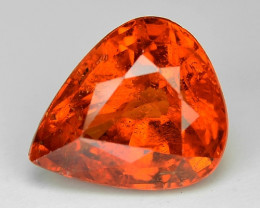 2.27 Cts Natural Orange - Red Spessartite Garnet Loose Gemstone