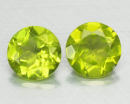 3.47 Cts Pair Green Color Natural Peridot Gemstone