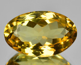 8.18 Cts Fancy Golden Yellow Color Natural Citrine Gemstone