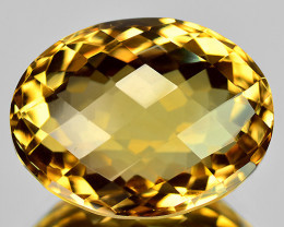 11.56 Cts Fancy Golden Yellow Color Natural Citrine Gemstone