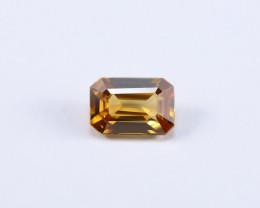 2.35ct Lab Certified Yellow Emerald Cut  Zircon
