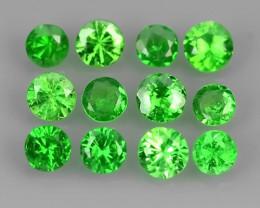 ~EXCELLENT NATURAL ELECTRIC GREEN TSAVORITE GARNET~