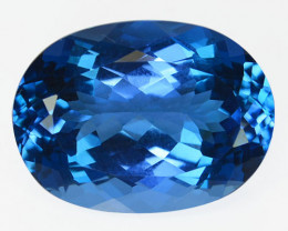 Marvelous 22.71 Cts Natural Swiss Blue Topaz 20 X 15mm Oval Cut Collection