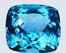 Genuine 38.57 Cts Natural Sky Blue Topaz Cushion Cut Collection Gem
