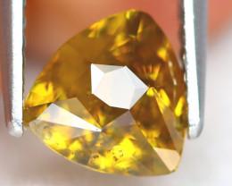 Sphene 1.15Ct Trillion Cut Natural Rainbow Flash Green Sphene A0201