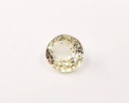 0.78ct Unheated yellow sapphire