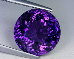 9.11 ct Top Quality Gem Round Cut Natural Purple Amethyst
