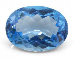 18.77 ct Oval Blue Topaz
