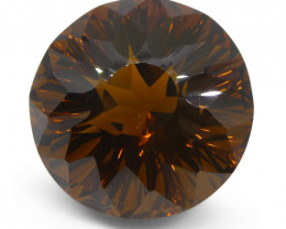 29.95 ct Round Citrine Fantasy Cut