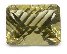 20.28 ct Emerald Cut Citrine Fantasy Cut
