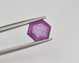 Natural Ruby 2.39 Cts with Hexagonal Pattern from Guinea