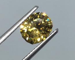 2.13 Carat VVS Zircon Master Cut Golden Flash Perfection!