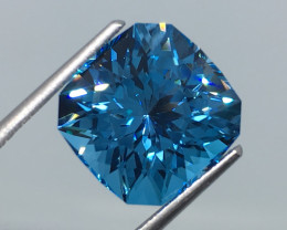 8.40 Carat IF Topaz Electric Blue Master Cut Incredible Quality !