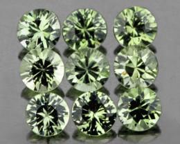 2.80 mm Round 9 pcs Green Sapphire [VVS]