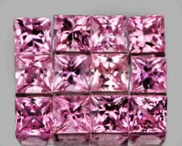 2.50 mm Square 9 pcs Pink Sapphire [VVS]