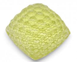 36.57 ct Cushion Lemon Citrine Fantasy Cut