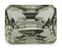 10.03 ct Emerald Cut Prasiolite Fantasy Cut