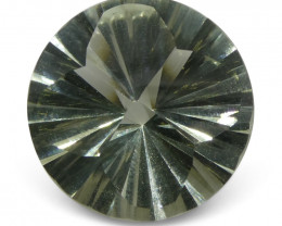 6.37 ct Round Prasiolite Fancy/Fantasy Cut-$1 No Reserve Auction