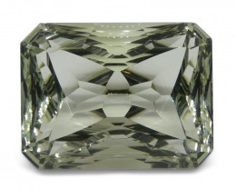 11.16 ct Emerald Cut Prasiolite Fantasy Cut