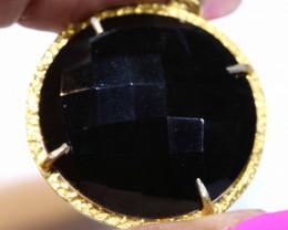 34CTS  BLACK ONYX PENDANT SG-3600