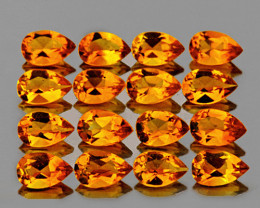 5x3 mm Pear 16 pcs 3.04cts Golden Yellow Citrine [VVS]