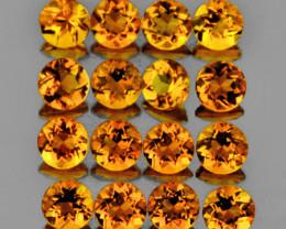3.00 mm Round 25 pcs 2.11cts Golden Yellow Citrine [VVS]
