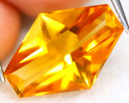 Citrine 7.73Ct VVS Precision Cut Natural Golden Yellow Citrine C0404