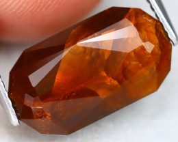 Fire Agate 6.70Ct Master Cut Natural Mexican Fire Agate ET0204
