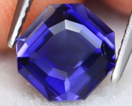 Iolite 1.55Ct VVS Square Cut Natural Vivid Purplish Blue Iolite ET0206