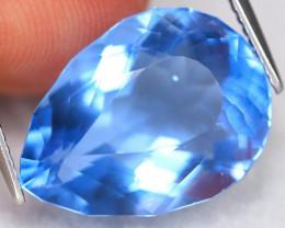 Fluorite 15.65Ct VVS Pear Cut Natural Color Change Fluorite ET0215