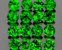 2.00 mm Round 30 pcs 1.11cts Chrome Green Diopside [VVS}