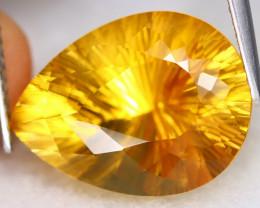 Citrine 7.60Ct VVS Designer Cut Natural Golden Yellow Citrine ET0217