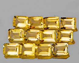 6x4 mm Octagon 12 pcs 6.88cts Yellow Citrine [VVS]