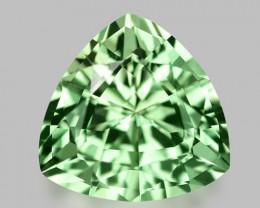 Flawless, custom precision cut natural neon green tourmaline.