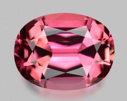 Flawless, custom precision cut natural neon pink tourmaline.