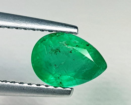0.97 ct AAA Grade Awesome Pear Cut Top Green Natural Emerald