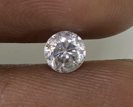 (1) Certified $865 Fiery 0.48cts SI2 White Loose Diamond Round  Natural