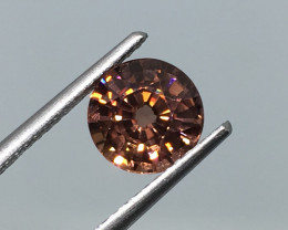 2.12 Carat VVS Zircon Peachy Red Unheated Tanzania Rare !