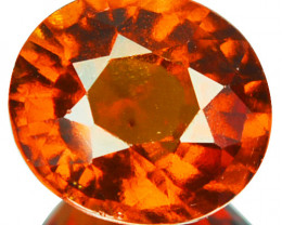2.70 Cts Natural Hessonite Garnet Cinnamon Orange Oval Sri Lanka