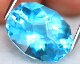 Swiss Topaz 9.93Ct VVS Master Cut Natural Swiss Blue Topaz ET0246