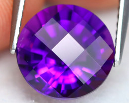 Uruguay Amethyst 2.94Ct VVS Pixalated Cut Natural Violet Amethyst ET0249