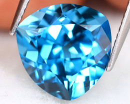 London Topaz 7.13Ct VVS Trillion Cut Natural London Blue Topaz B0502
