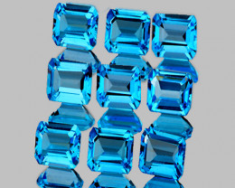 4.00 mm Square 9 pcs 3.50cts Swiss Blue Topaz [VVS]