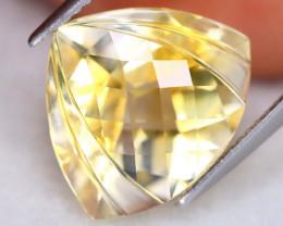 Yellow Citrine 7.73Ct VVS Designer Cut Natural Yellow Citrine ET0258