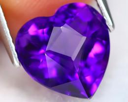 Uruguay Amethyst 3.01Ct VVS Heart Cut Natural Violet Amethyst ET0260