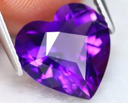 Amethyst 3.17Ct VVS Heart Cut Natural Bolivian Purple Amethyst ET0262