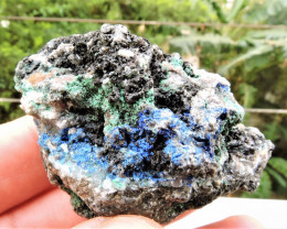 82.83g AZURITE MALACHITE SPECIMEN FROM LAVRION MINES GREECE