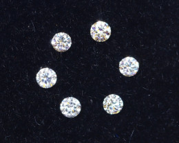 1.5mm D-F Brilliant Round VS Loose Diamond 6pcs