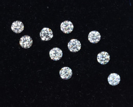 1.5mm D-F Brilliant Round VS Loose Diamond 10pcs