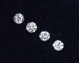 1.6mm D-F Brilliant Round VVS Loose Diamond 4pcs